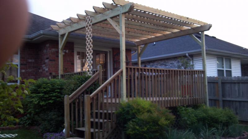 Pergola , deck with pergola , covered deck pergola