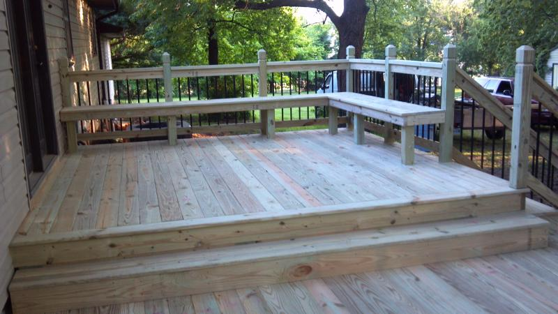 deck picture with built in benches