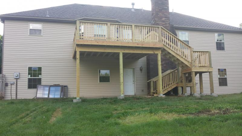 deck 2nd story, deck, siding and window replacement with new deck