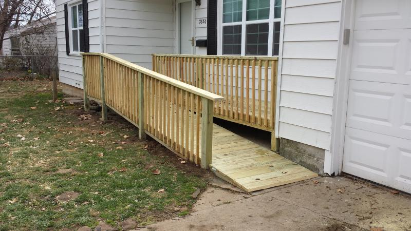 ramp on new deck makes easy entrance