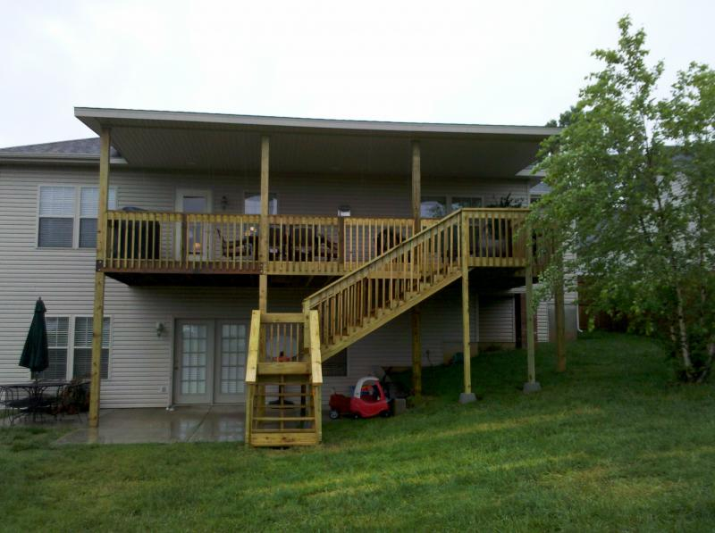 Robs handyman services decks i build quility decks at a for How to build a 2nd story floor